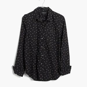 Madewell Shrunken Ex-Boyfriend Shirt Crescent Moon